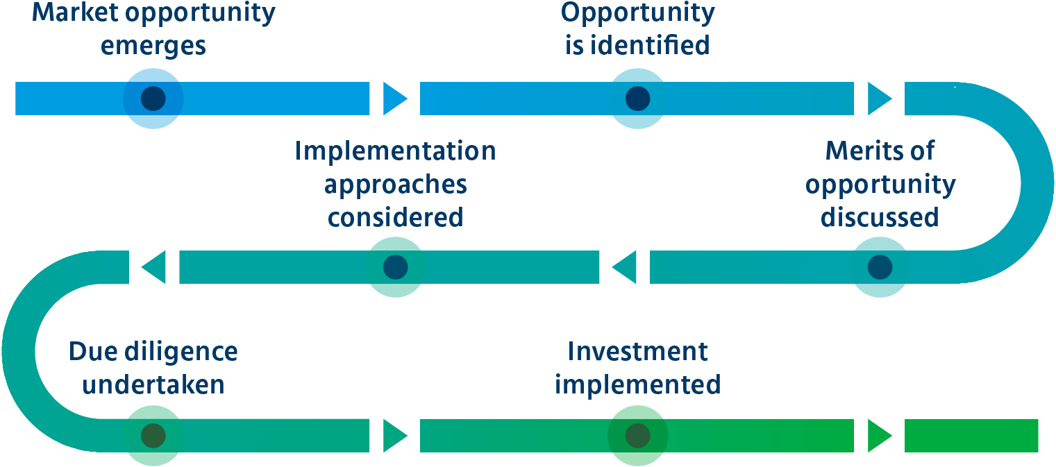 Process to capture investment opportunities